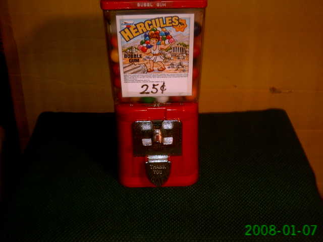 Table Top Bubble Gum Machine