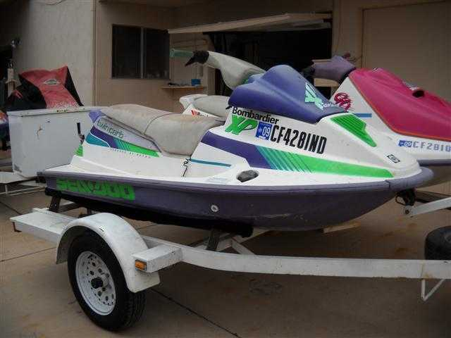 1992 Zieman Double Jet Ski Trailer