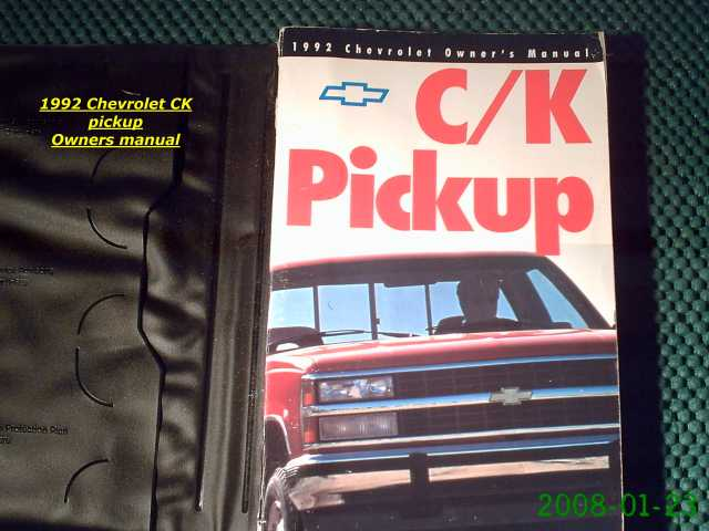 1992 Chevrolet Ck Pickup Owners Manual