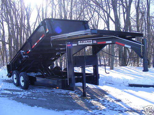 New Ft - 14dt Hydrolic Dump Felling Gooseneck Trailer