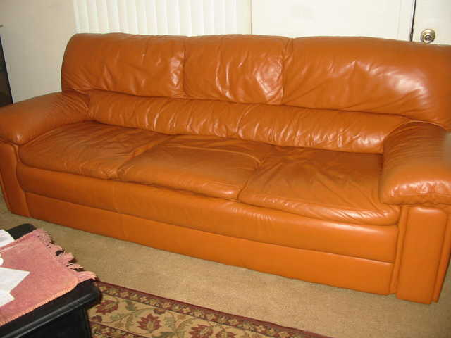 Soft Carmel Leather Sofa