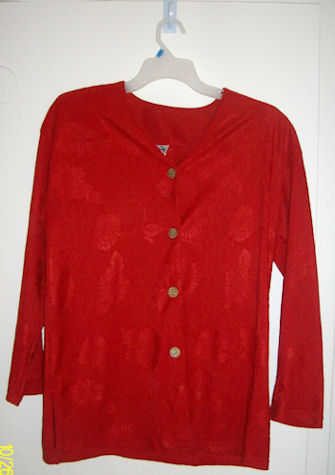 Red Dress Blouse 2x - 3x