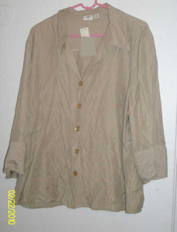 Tan Blouse And Tan Skirt Size 2x - 3x