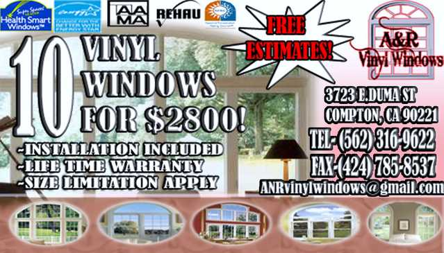 A&r Vinyl Windows