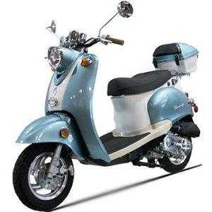 50cc 4 Stroke Moped Euro Gas Motor Scooters