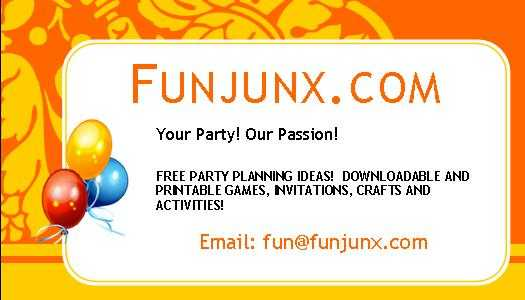 Free Party Plans, Activities, Games & Ideas