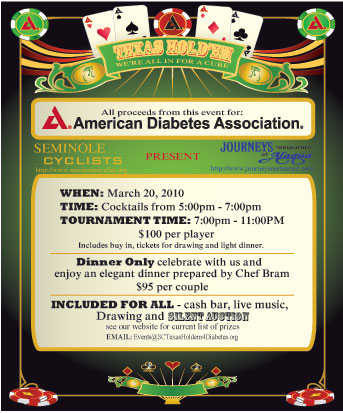 Texas Hold'em For American Diabetes Association