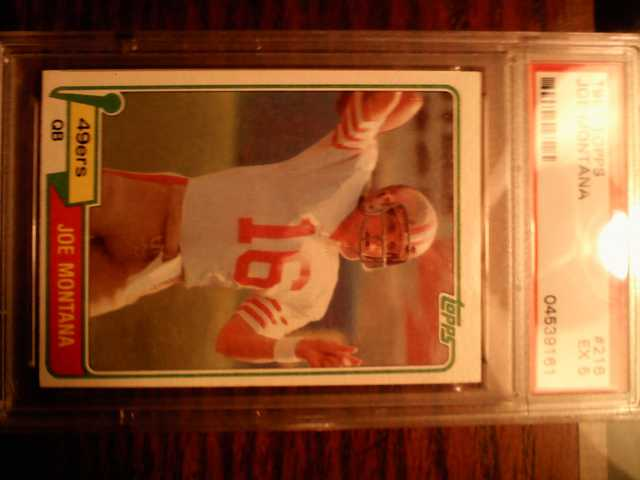1981 Joe Montana Rookie Topp's Football Card