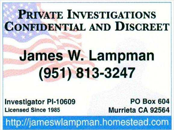 Private Investigations Temecula Honest Pi