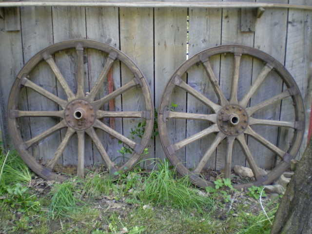 Antique Cannon Wheels