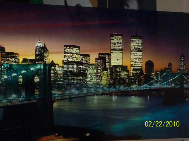 World Trade Center (Twin Towers) Light Up Picture