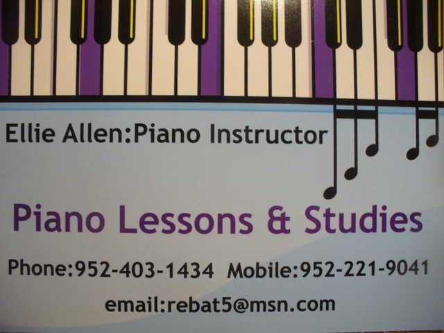 Piano Lessons & Studies