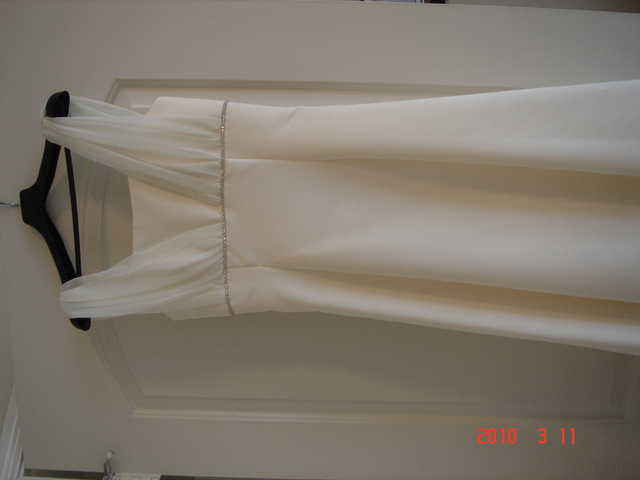 Ivory Dress - Small - $50 / Caparros Wedding Shoes - 7.5 - $30