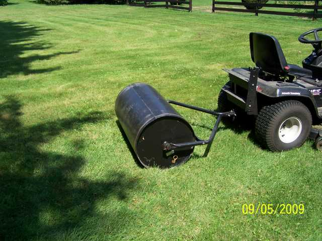 Pull Behind Mower Lawn Roller And Spreader