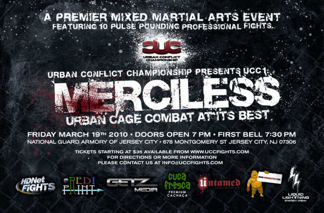 Ny / Nj All - Pro Mma Cage Fight March 19th Ufc Feeder League Tickets