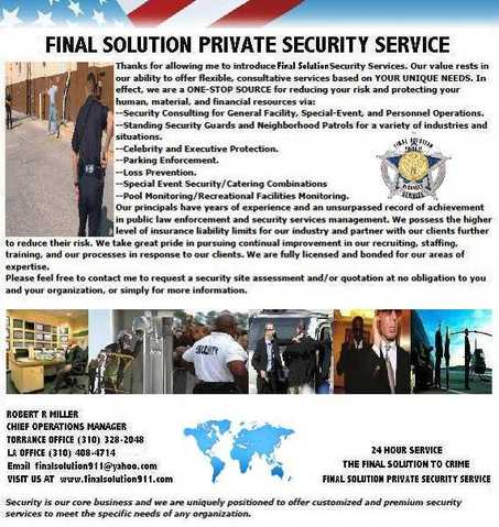 Final Solution Private Security Service
