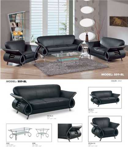 New Contemporary Leather Sofa (Free Deliver + Set Up)