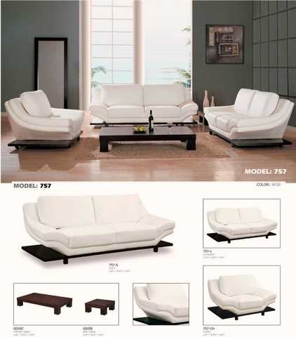 New White Contemp. Sofa (Free Deliver + Set Up)