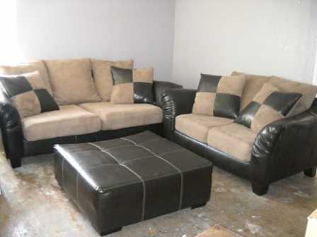 Oversized Leather Suede Living Room Set 800 Edinburg