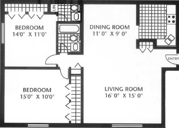 Spacious 2 Bedroom Apartment Home For Rent