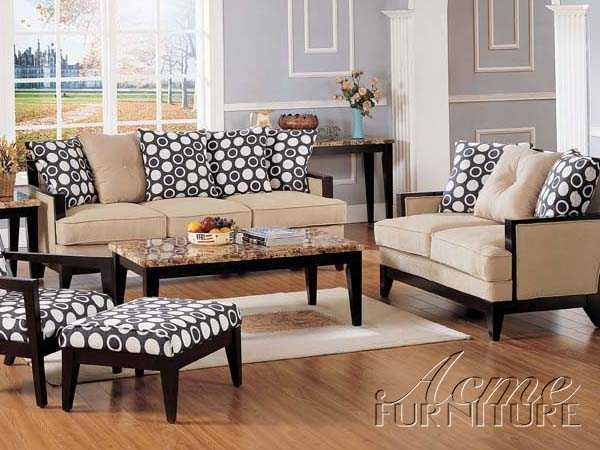 Chenille Fabric Sofa Set