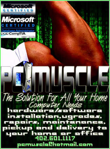 Pc Muscle - Home Computer Repair, Maintenance, Upgrades And More!