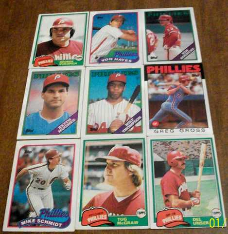 Philadelphia Phillies Baseball Cards 1981 - 1989