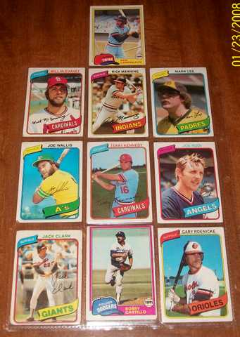 Baseball Cards 1980 - 1981 W / Signatures