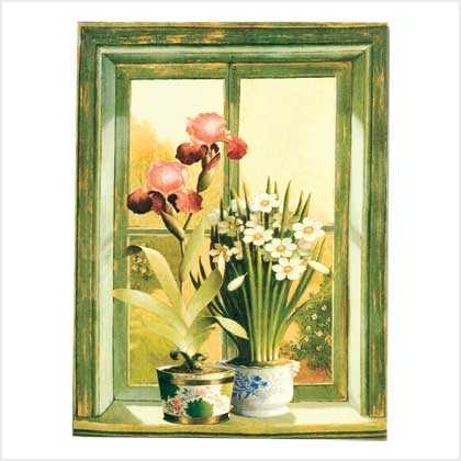 #38420 Floral Potted Plants Print