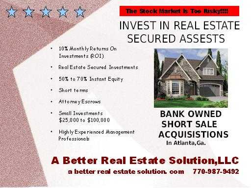10% Roi On Trust Deed Secured Real Estate Acquisitions