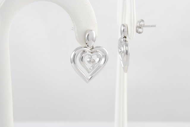 High - End Genuine Diamond Sterling Silver Earrings