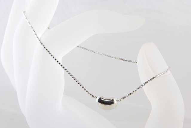 Coffee Bead Rhodium Sterling Silver Bracelet - $29