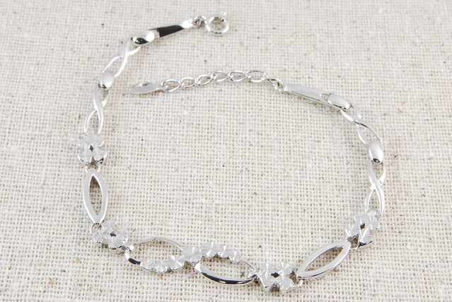 Diamond Cut Sterling Silver Bracelet - $30