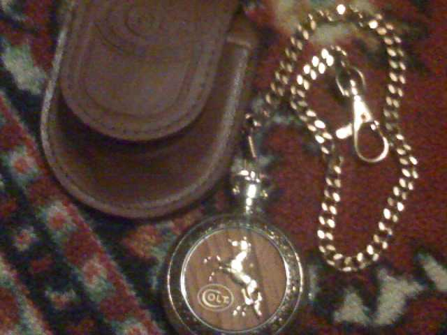 Colt Firearms Pocket Watch By The Franklin Mint (Very Rare)