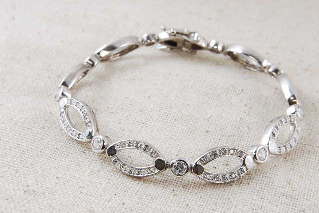 High - End Rhodium Sterling Silver Bracelet - $60
