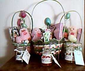 Easter Baskets, Candles, And Candy Grams.