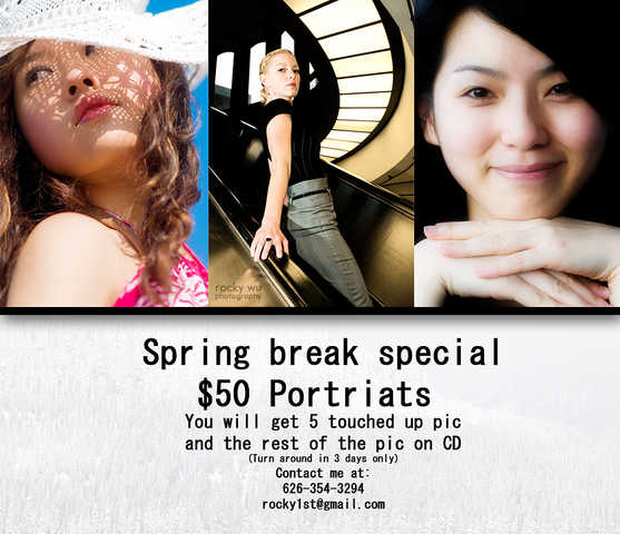 Professional Portraits Photo Shoot - $50 Spring Break Special