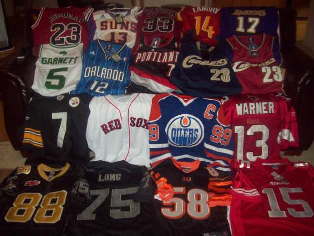 Jerseys For Nfl, Nba, Mlb & Nhl - $65, Kids Jerseys - $50