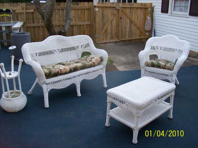 White Wicker Furniture Beautiful