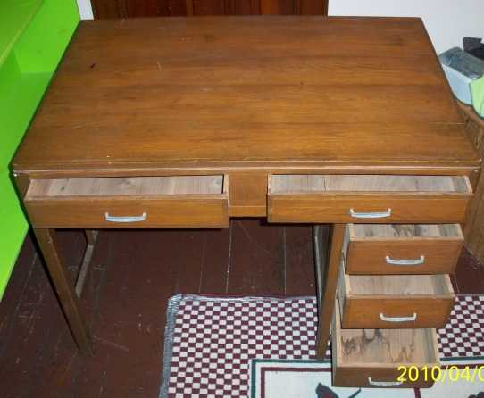 Antique Five Draw Desk $75 Obo