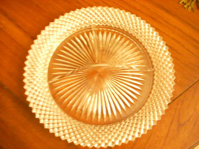 Depression Glass Diamond Point Plates