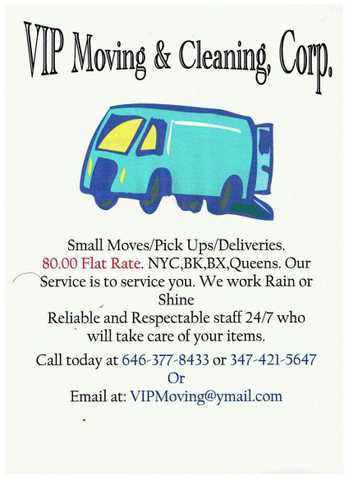 Small Move / Pick Ups / Deliveries 80.00 Flat Rate Special