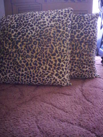 4 Leopard Print Pillows