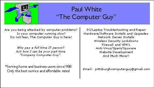 The Working Person's Friend Is The Computer Guy