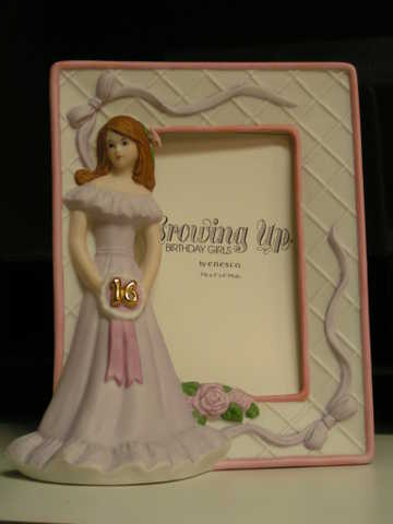 Enesco Growing Up Sweet Sixteen Birthday Girl With Attached Frame