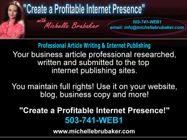 Professional Article Writing & Internet Publishing Service