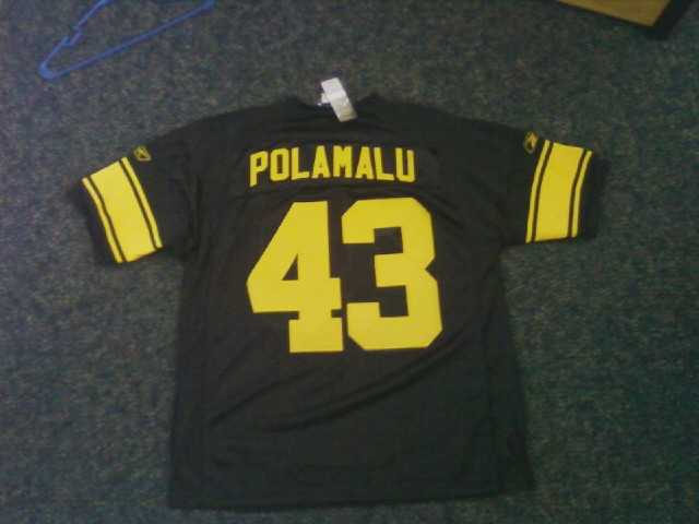Troy Polamalu Pittsburgh Steelers #43 Stitched Authentic Jersey.