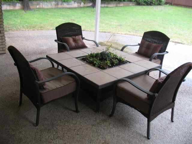 Garden Table And Chairs With Fire Pit Part   15: Dining Table Patio Dining  Table Part 59