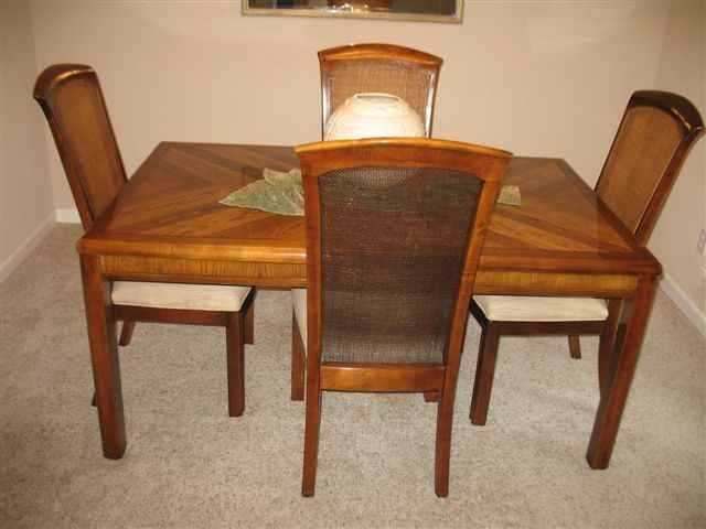 Dining Room Table And Chairs And Three Bar Stools