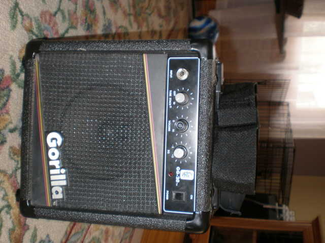 Gorilla Guitar Amplifier And Guitar Strap